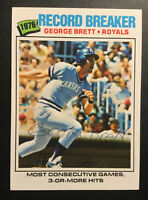 1977 Topps #231 George Brett Record Breaker Royals HOF SIGNED AUTOGRAPHED AUTO