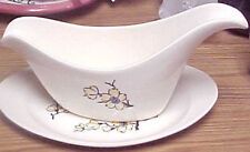 Vintage Hand Decorated Yellow Flowers Plate w Gravy Boat