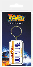 BACK TO THE FUTURE OUTATIME PLAQUE IMMATRICULATION PORTE-CLÉS CAOUTCHOUC 100%