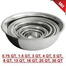 Different Sizes Stainless Steel Restaurant Mixing Bowl Heavy Duty Commercial