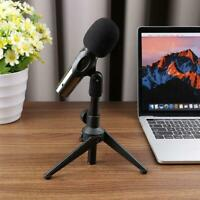 Portable Foldable Mini desktop Microphone Stand with Mic Clip H
