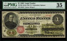 1862 $1 Legal Tender FR-16b - PMG 35 - Choice Very Fine - Scarce! - 14 Known