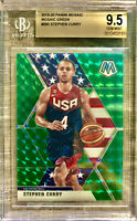 2019-20 Panini Prizm Mosaic Green Stephen Curry Team USA Jersey BGS 9.5 Gem Mint