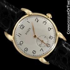 1940's ROLEX PRECISION Vintage Mens Claw Lug Dress Watch - 18K Gold
