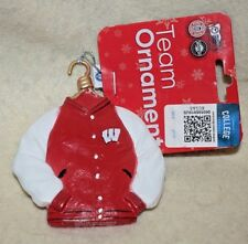 New-18A Christmas Ornament-Wisconsin Badgers Team Jacket, Adorable Look