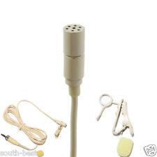 Creamy White Tie Lavalier Lapel Microphone for Sennheiser EW100 300 500 G1 G2 G3