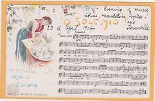 Italian Music Postcard - O Sole Mio Illustration by P Scopetta