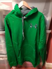 Under Armour Coldgear Charged Cotton Storm Green Overhead Size XXL Loose