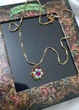 Michal Negrin necklace Flower Multicolor Swarovski Crystals israel gift