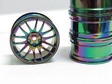 4pcs RC 1/10 Radio Control Model Car Neo Chrome Wheel Rim Hub 3mm offset