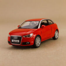 Model Car Audi A1 2010 Red 1:32 11.5cm Die-Cast Pull-Back Doors Open Detailed