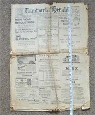 More details for original copy of tamworth herald 31 dec 1938