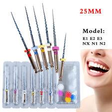 6pcs Dental Niti Super Files Rotary Tip Endodontic Endo Motor Root Canal 25mm