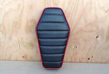 "16"" COFFIN BLACK/RED MINIBIKE SEAT BOBBER CHOPPER MINI BIKE SCOOTER BLAZER BURRO"
