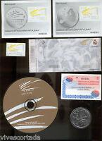 Centenario Real Madrid 25 Febrero 2002 ( Completo sobres pruebas disquet medalla