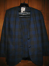 Ladies G W C (Good Work Clothes) Plaid Suit - Size 12
