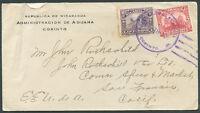 NICARAGUA TO USA CORINTO Cancel Cover 1923