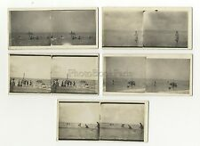 Le Touquet 5 Photos amateur stéréo Vintage argentique 1932