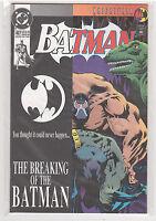 Batman #497 Knightfall Bane black and white die cut variant 9.6