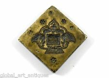 Vintage Beautiful Designs Bronze Handmade Jewellery Dye/Seal/Stamp. G46-177