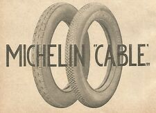 Y2771 Pneumatici MICHELIN Cable - Pubblicità del 1922 - Old advertising