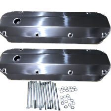 """For Ford 429 460 Fabricated Aluminum Tall Valve Covers 1/4"""" Billet Rail BBF Race"""