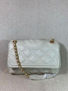 NWT Tory Burch Birch Soft Fleming Convertible Shoulder Bag $528