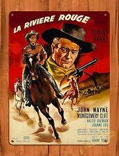Tin-Ups Tin Sign La Rivière Rouge John Wayne Vintage Movie Art Poster