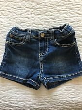 Almost Famous Girls Shorts Adjustable Waist Flap Pockets Rhinestone Size 6 EUC