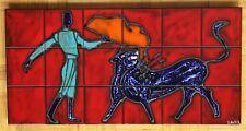 céramique scène de corrida tauromachie torero années 60 André Bayer