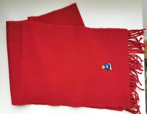 Vintage Polo Ralph Lauren Bear Collection Scarf - Red - Rare Made In Scotland...