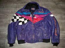 Vtg Polaris Hein Gericke Snowmobile Sled Leather Racing Mens Jacket Coat Size XL
