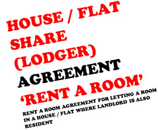 Rent A Room Lodger Agreement For House Flat Resident Landlord Printed X10