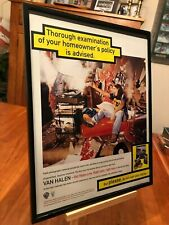 "2 BIG 11x14 FRAMED VAN HALEN ""LIVE: RIGHT HERE, RIGHT NOW"" LP ALBUM CD PROMO ADS"