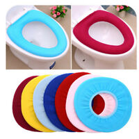 Washable O Shaped Toilet Seat Cover Thicken Plush Warmer Overcoat Case