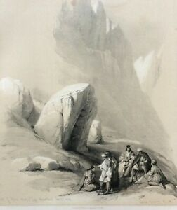 David Roberts FIRST EDITION 1840', Rock of Moses, Large!  Lithograph