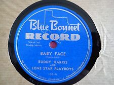 78 Tours BUDDY HARRIS AND LONE STAR PLAYBOYS-BABY FACE/LITTLE LIZA JANE
