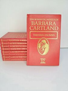 VTG 1975-1986 The Romantic Novels Of Barbara Cartland HC Set Lot of 9