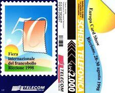 G 864 B C&C 2968 SCHEDA TELEFONICA USATA EUROPA CARD SHOW VARIANTE OCR 18 MM
