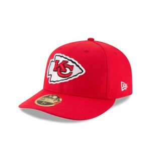Kansas City Chiefs NFL Low Crown Authentic New Era 59FIFTY Fitted Hat - Red