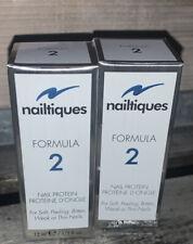 Lot of 2 Nailtiques Formula 2 Nail Protein 1/2 Fl. Oz. 15 ml
