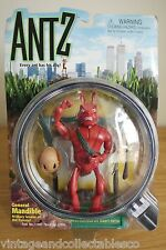 Antz Action Figure General Mandible 1998 Playmates Mint On Card Dreamworks