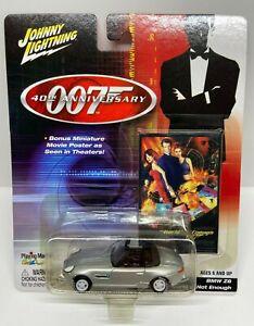 Johnny Lightning 007 40th Anniversary Silver BMW Z8 WHITE LIGHTNING