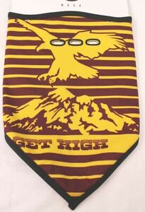 New 2018 NEFF Mountain Facemask Bandana Gold/Maroon Face Mask Get High