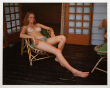 JOCK STURGES MODEL ON PORCH MONTALIVET FRANCE 16X20 PHOTOGRAPH #1/25!