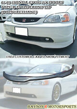 TR-Style Front Lip (Urethane) Fits 01-03 Civic 2/4dr