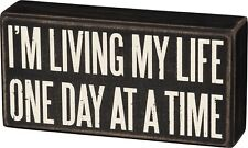 Primitives by Kathy Box Sign ~ One Day at a Time ~ 12 Step AA NA~ Free Shipping