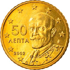 [#819907] Grèce, 50 Euro Cent, 2002, Athènes, FDC, Laiton, KM:186