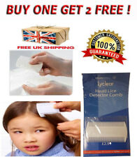 lyclear Blanc Double Face Peigne à lentes pour tête Poux Détection enfants Pet