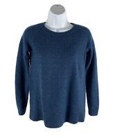 Loft Women's Small S Sweater Knit Blue Long Sleeve Pullover